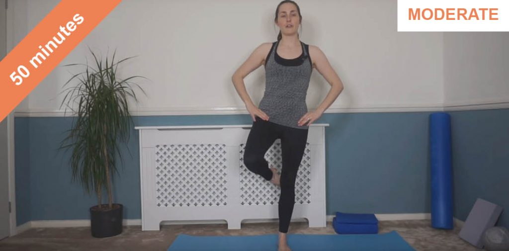 Standing and mat Pilates workout