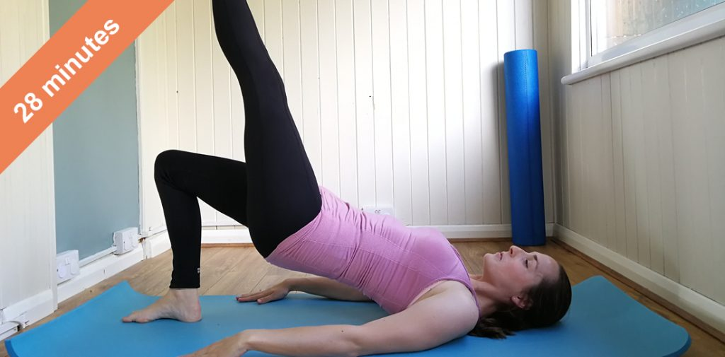 Glutes and upper body Pilates class