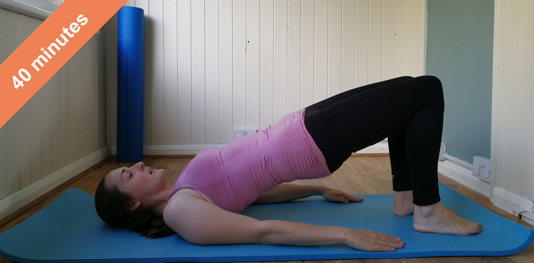 Full body Pilates class with stretches