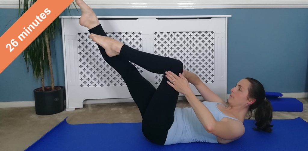 Core, pelvic floor and upper body Pilates workout