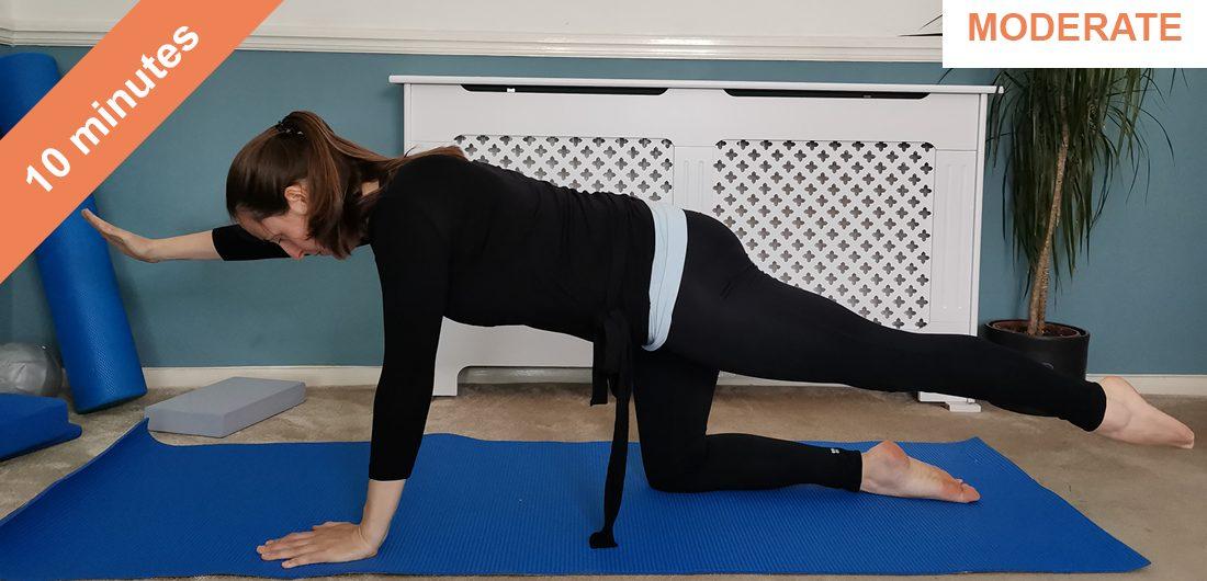 Pelvic stability Pilates workout