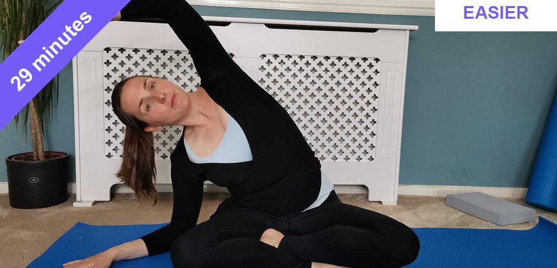 Super stretchy Pilates class-t