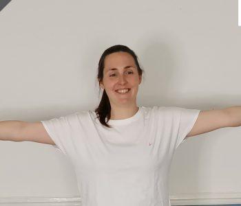 Standing and mat work Pilates class